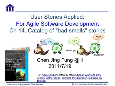 Pdf User Stories Applied Software Development by Agile Catalog Of Story Smells
