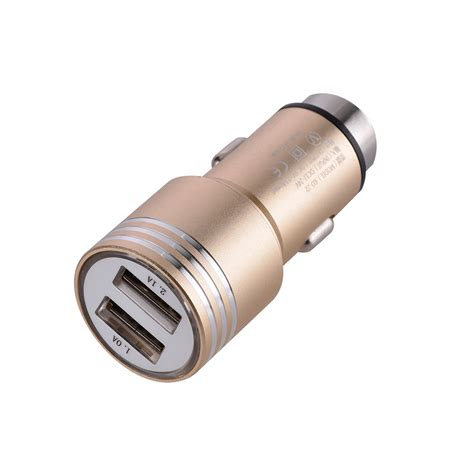 Dual Usb Car Charger 2 1a universal dual usb ports car charger adapter 2 1a 24v gold