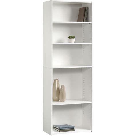 white 5 shelf bookcase sauder beginnings 5 shelf bookcase soft white walmart
