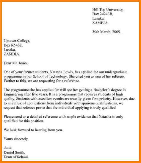 Reference Letter Writing Exles 9 Writing Recommendation Letter Sle Of Invoice
