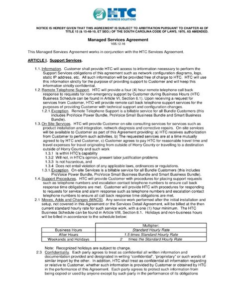 5 Managed Services Agreement Contract Templates Word Pages Docs Free Premium Templates Msp Contract Template