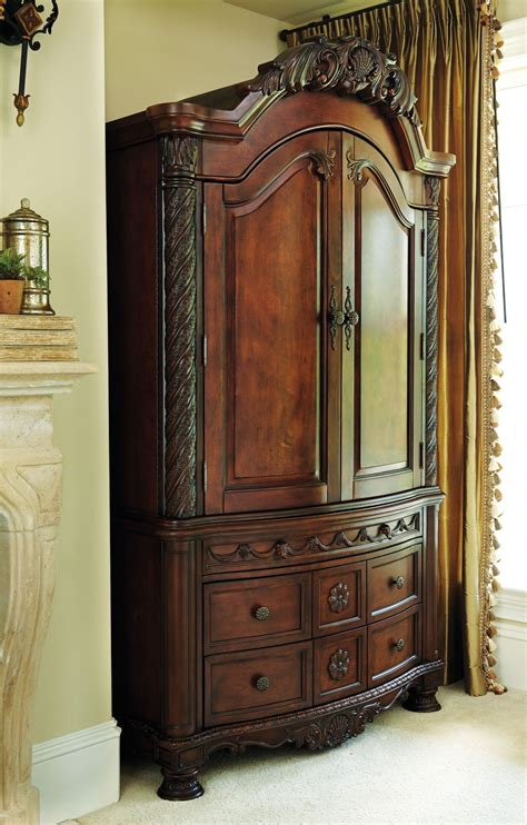 bedroom furniture armoire north shore armoire b553 49 ashley furniture bedroom
