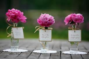 Simple wedding centerpieces peony pink onewed com