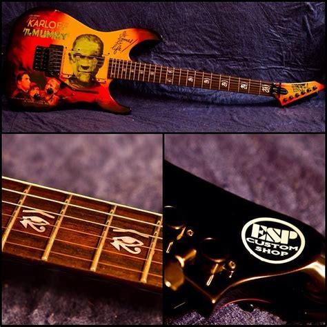 kirk hammett mummy guitar decal my kirk hammett monster movies collection the esp guitar