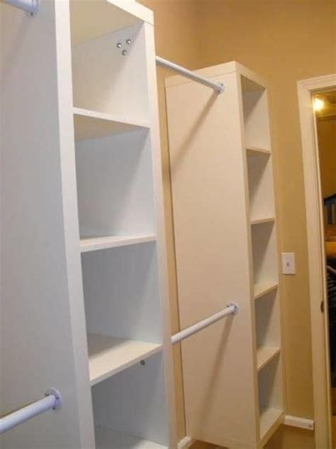 ikea bookshelf closet hack 33 best images about billy bookcase hacks on pinterest