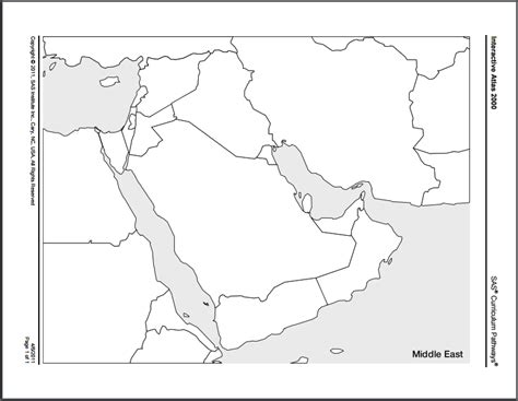 middle east map blank printable social studies buried treasure printable blank maps