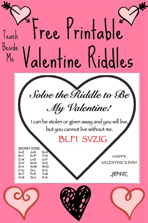 valentines riddles for free printable riddle cards teach beside me