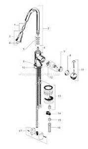 american standard kitchen faucet repair parts american standard 4332 300 parts list and diagram