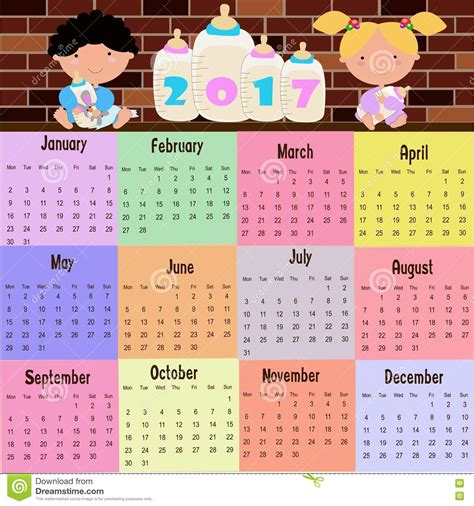 Calendrier Kinder 2017 2017 Calendar For Calendar Template