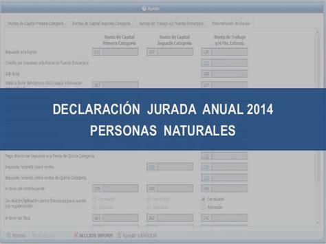 pdt ddjj renta anual personas naturales 2015 renta personas naturales 2014