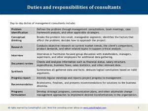 Change Management Responsibilities by Description For A Management Consultant