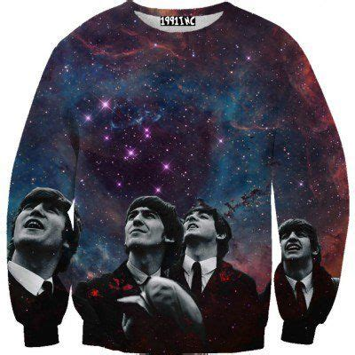 The Beatles Sweater Hoodie Jaket beatles galaxy sweater band merch