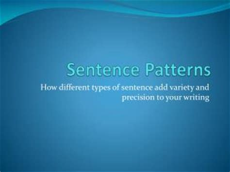 basic sentence pattern powerpoint presentation ppt basic houppelande patterns powerpoint presentation