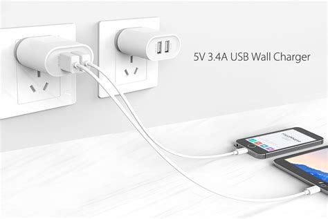 Blanjamall Package Usb Wall Charger 3 Port With Tronsmart Cable Mupp1 ugreen 5v 3 4a dual usb port portable wall charger eu adapter alex nld