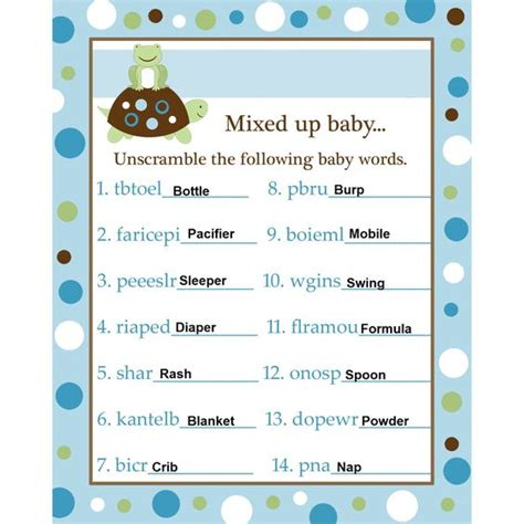 the hunger games themes unscramble answers baby shower word scramble answers blue baby shower