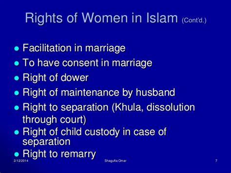 Women's rights in islam regarding marriage licenses