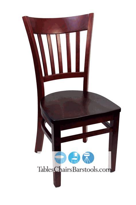 gladiator mahogany vertical back wooden restaurant chair