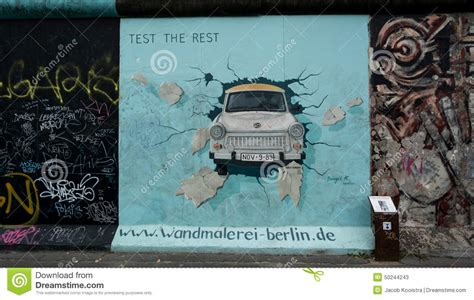 testi the wall test the rest berlin wall east side gallery editorial