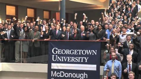 Georgetown Mba Review by Nyse Closing Bell Ceremony At Georgetown S Mcdonough
