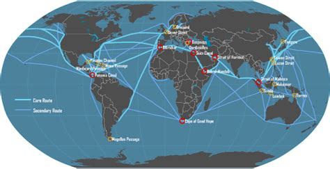 boat shipping map main maritime shipping routes maps n such pinterest