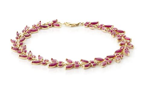14k gold 16 50ct ruby butterfly bracelet gj2630y