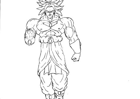 free coloring pages of dragon ball z broly