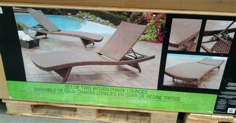 Woven Chaise Lounge Chair by Andersen Stokke Aloha Woven Chaise Lounge Chair Costco
