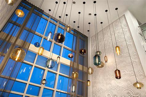 hotels  modern pendant lighting clusters