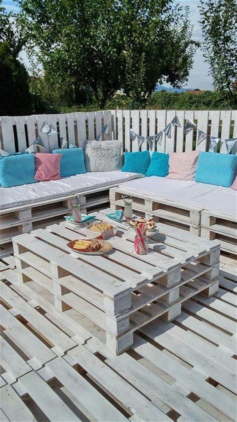 garden ideas with pallets pallets garden lounge projects