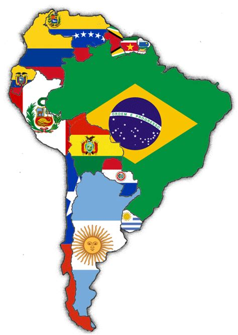 south america map and flags file flags south america png