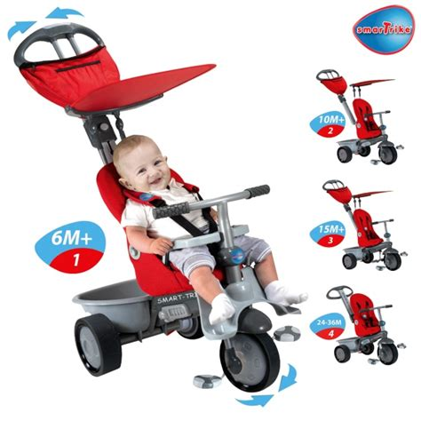 smart trike 4 in 1 recliner tricycle smart trike recliner red reviews toylike