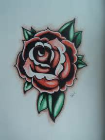 tattoo flash rose by sharktapous on deviantart