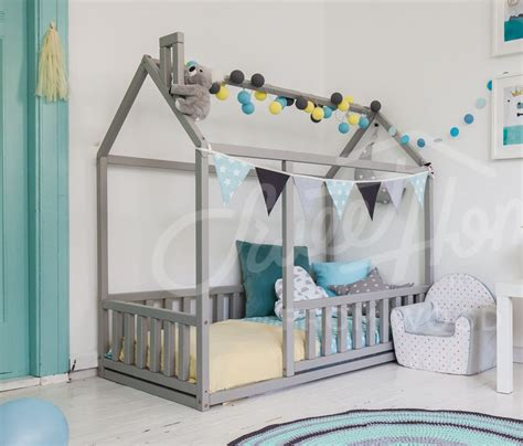 Baby Floor Bed by Frame Bed Children Bed Play Tent House Bed Toddler