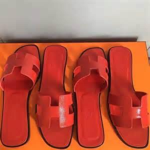 Sandal Wedges Selop Hermes Orange Diskon hermes authentic hermes oran sandals from c s closet on poshmark