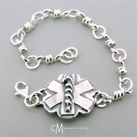 Handmade Alert Bracelets - medic alert bracelet id bracelet sterling silver