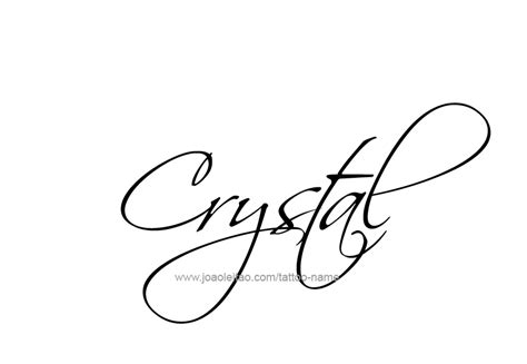 crystal name tattoo designs