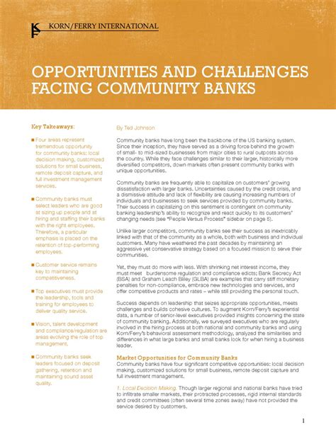 challenges facing banks opportunities and challenges facing community banks by