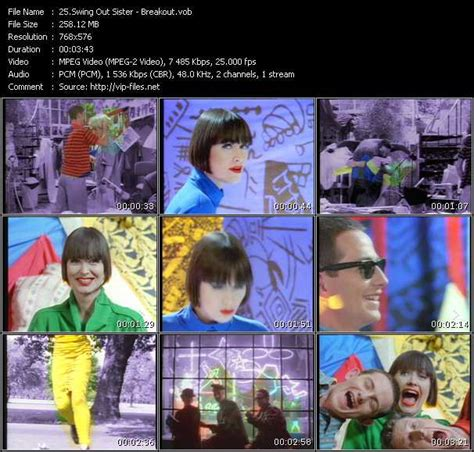 swing out sister download swing out sister breakout download music video clip