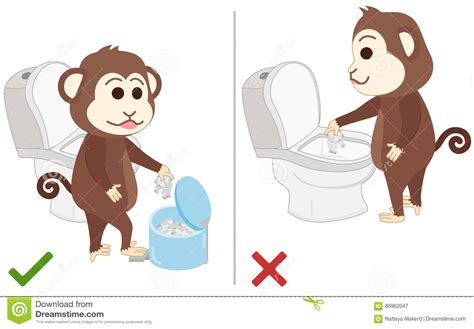 bd einsatz toilette monkey feel and bad practice in use toilet stock