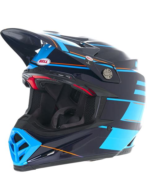blue motocross helmet bell blocked blue 2017 moto 9 flex mx helmet bell