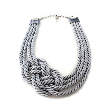 rope jewelry grey nautical sailor s knot infinity rope necklace i d