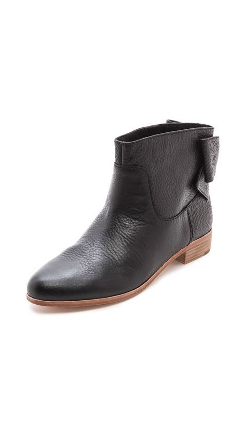 Flat Bow Black kate spade new york prospect flat bow booties black in