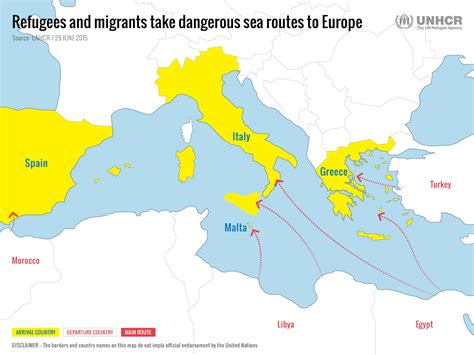 refugee boat italy spain unhcr tracks the sea route to europe