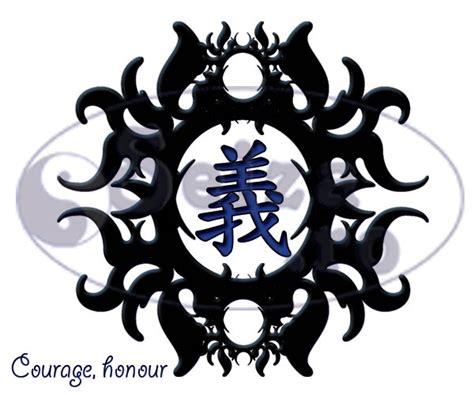 honor tattoo tribal kanji for honor justice various tattoos