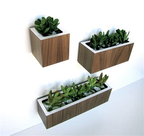 Small Modern Hanging Planter Box For Decks Or Balcony With Modern Hanging Planters