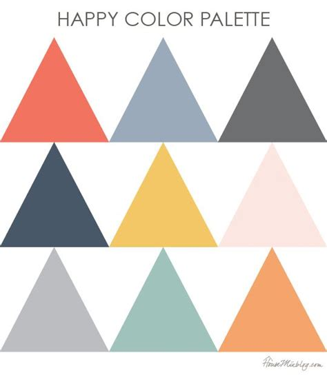 modern color combination color palette inspiration happy dusty blue orange grey and coral navy