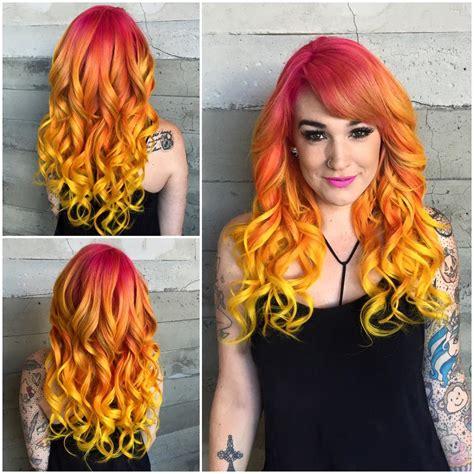 sunset hair color sunset hair color hair colors ideas