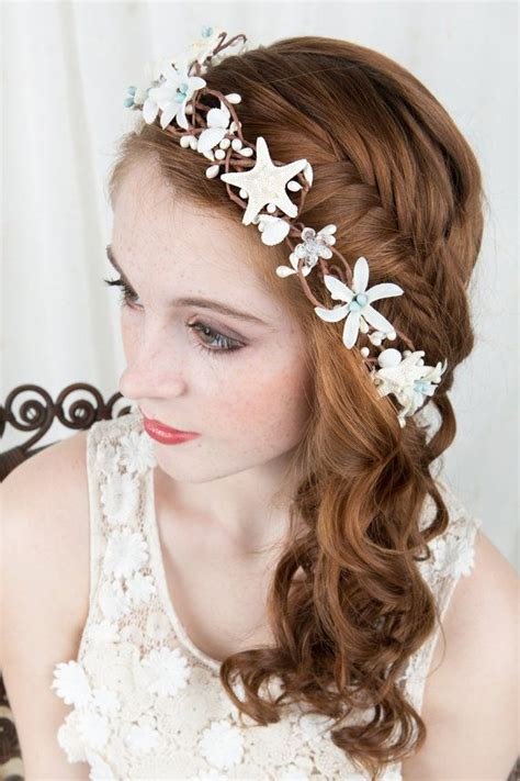 starfish hair accessories by hair comes the bride seashell hairpiece starfish hair accessories bridal