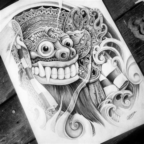 barong tattoo designs barong drawing google zoeken nederlandsch indi 235