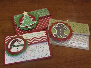 Holiday Gift Card Holders - stin up holiday gift card holders christmas crafts cards pi